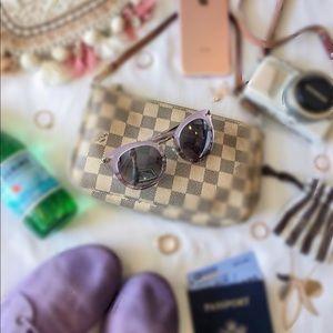 Stella & Dot Cat eye lilac mirrored sunglasses